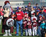 Corvallis Knights Appear at Albany Little League Opening Ceremonies.