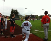 Fifth Annual Baseball Clinic at Goss Big Hit with Kids.