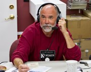 Popular Joe Beaver Show Broadcasts from Knights' Downtown Corvallis Office.