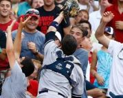 Ex-Knight Chris Stewart of the Yankees Makes Great Catch & Throw vs. Red Sox.